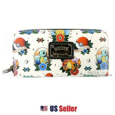 Loungefly Sanrio Pokemon Faux Leather Zip-around Long Large Wallet: Pokemon