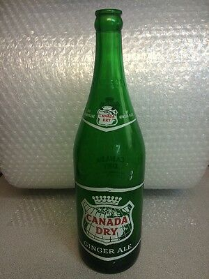 Vintage Canada Dry Ginger Ale  Soda Bottle--1 Pint 12 Ozs. Acl & Embossed '55