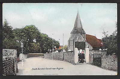 Nice Printed Postcard Of South Bersted Church Near Bognor Regis Sussex