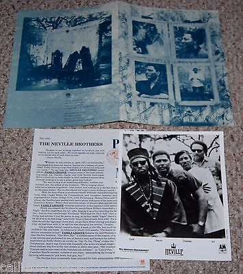 NEVILLE BROTHERS 1992 Family Groove 3pc Photo Press Kit Lot Aaron