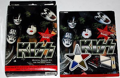 KISS Halloween 1998 Box Set Make-Up Kit + 1997 Reg Make-Up Kit Gene Simmons Ace