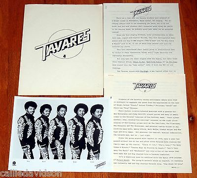 TAVARES Sky High 1976 Future Bound 1978 4pc Photo Press Kit Lot R&B