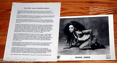 DIANA ROSS 1994 Diana Extended The Remixes 2pc Photo Press Kit Lot Supremes