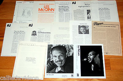 LES McCANN 13pc Photo Press Kit Lot 1974-1979 Soul Jazz Pianist R&B