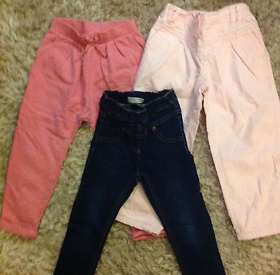 Next Girls Trousers, Jeggings 2-3 Years