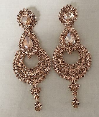 Women Indian Bollywood Costume Gold Plated Wedding Fashion Earrings Jewellery