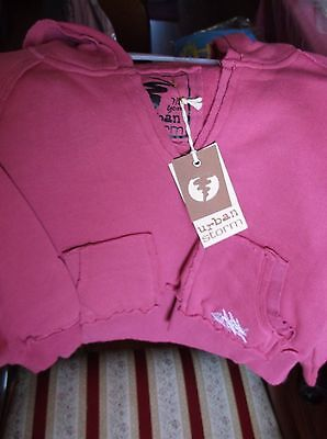 Brand New Branded Urban Storm Girls Cerise Pink Hoodie Age 7-8Years