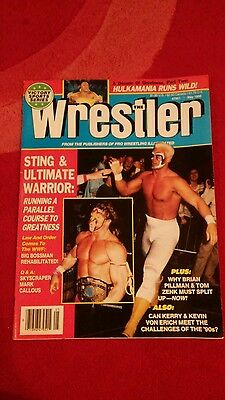 The Wrestler Magazine May 1990 Sting And Warrior Front Cover.