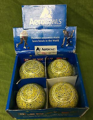 Aero Groove Bowls Yellow Size 3.5H Stamped WB 23