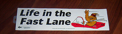 1987 Life in the Fast Lane ALF TV Character Driving Convertible Bumper Sticker
