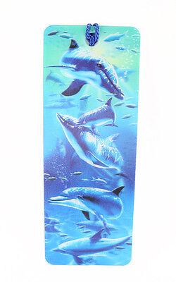 3D Bookmark Dolphin Lenticular with Tassels Book Marks Cute Ocean Sea Animal