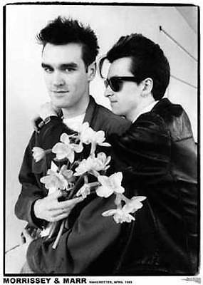 """The Smiths Morrissey & Johnny Marr 1983 Poster  23.5"""" x 33"""" UK import Manchester"""