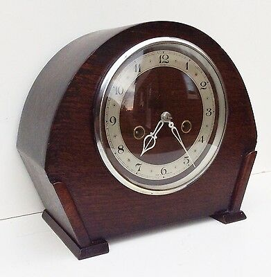Smiths Oak Striking Mantle Clock