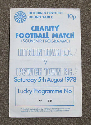 1978/79 Hitchin Town v Ipswich Town. Charity Football Match.