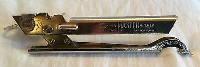 Vintage Vaughan's Master Opener Can Opener Made in USA Metal