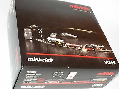 Marklin Mini Club Z Gauge 81560 Set Locomotive 2 Wagons Transformer & Part Track