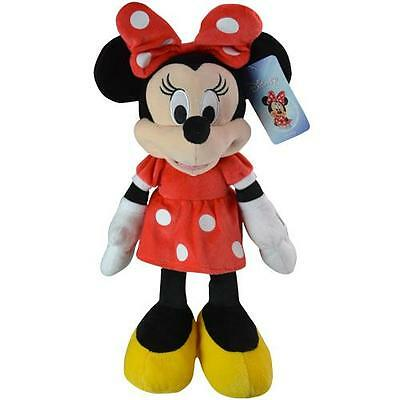 """Disney Minnie Mouse Classic 15"""" Plush Toy Stuffed Character Doll Red Dress NEW"""