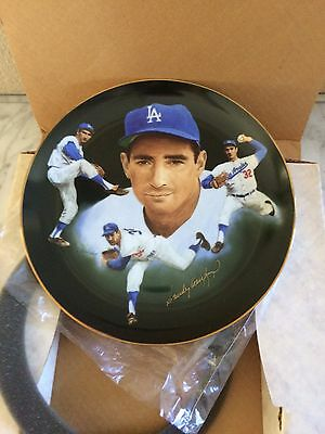 1985 SANDY KOUFAX Signed Plate - CHRIS PALUSO Framed #389 Dogers Autograph