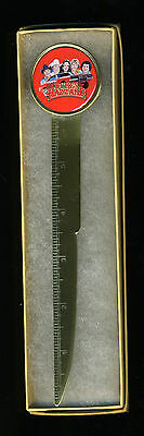 """The Dukes of Hazzard Brass Plated Steel Letter Opener with 6"""" Ruler Boxed"""