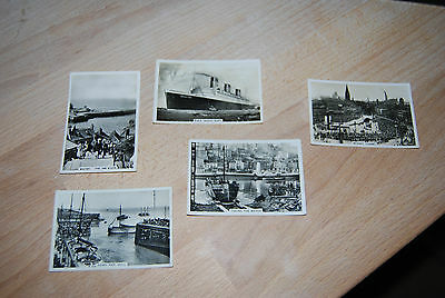 5 Cigarette Cards Sights of Britain & Coastwise Senior Service
