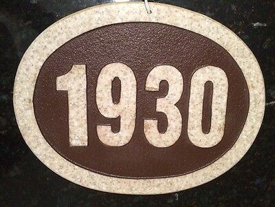 Solid Corian 1930 House Number