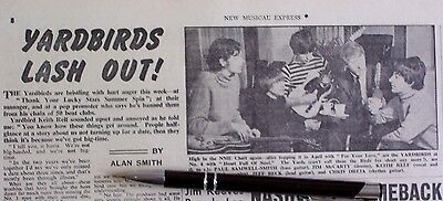 The Yardbirds 1965 - 1966 Clippings Lot