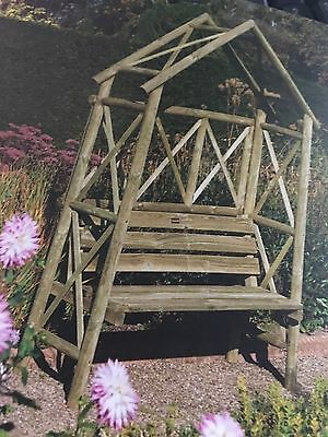 Rustic Garden Arch with bench