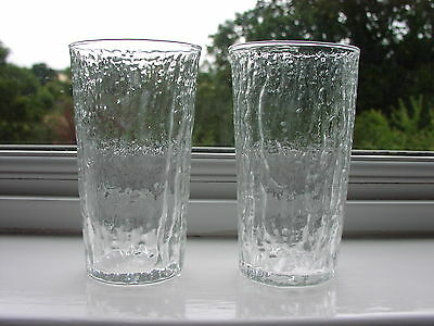 """Whitefriars Textured Ice Glass Tumblers """"Icicle"""" 1974  x 2"""