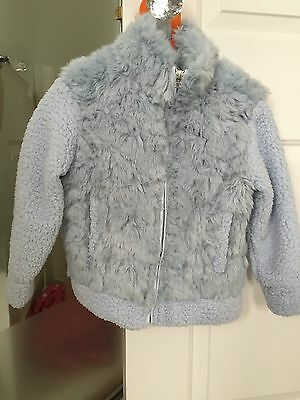 Girls Light Blue Jacket From Next Age 6 Years