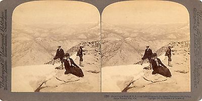 1902 California, Photographer with Camera Atop the Sierra Nevada Mts. Stereoview