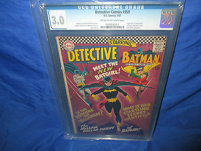 Batman Detective Comics #359 CGC 3.0 Origin & 1st Appearance Of Batgirl Barbara