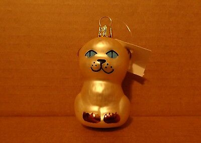 """Siamese Cat"" Christmas Holiday Glass Ornament"