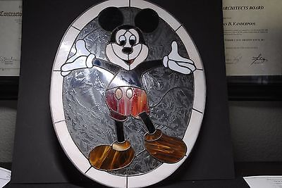 Micky Mouse Stained Glass window