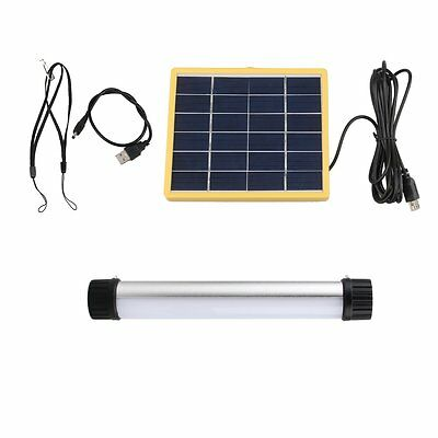 Portable Outdoor Solar Power Panel Emergency LED Camping Light Lamp USB Charging