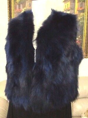 New Women's Fluffy Real Genuine Raccoon Fur Vest Large