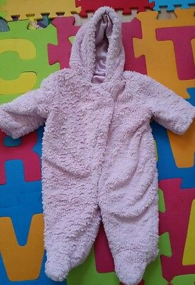 baby girl george snowsuit size 6-9 m