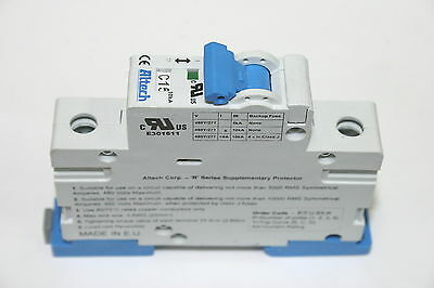 Lot of 12 Altech 1CU15R 15A DIN Rail Single Pole 480/277VAC Circuit Breakers