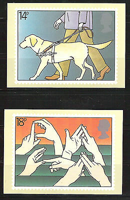 British Stampcards PHQ used set 50 Disabled  1981