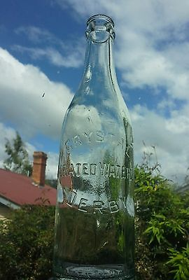 CRYSTAL AIRATED WATER Co. DERBY , bottle