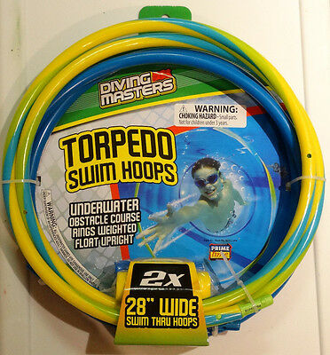 New Diving Masters Torpedo Swim Through Hoops Underwater Pool Game by Prime Time