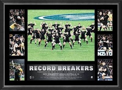 All Blacks Rugby Union 2016 Record Breakers 18 Wins World Record Tribute Frame