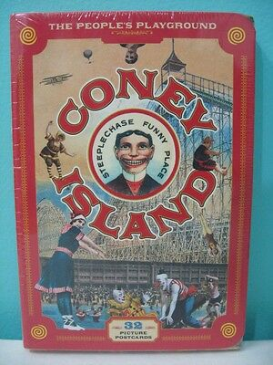 Coney Island Postcard Set 2007 Repro Vintage Scott Russo The People's Playground