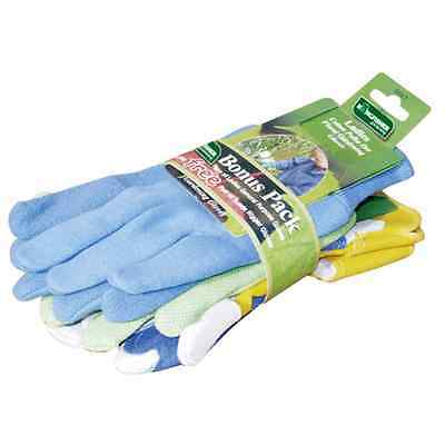 3 Pack Briers Womens/Ladies All Rounder Gardening Gloves Ladies Gloves Pack PRO