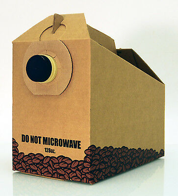 128 oz. Disposable Insulated Coffee Boxes/ 25 pack FREE Shipping