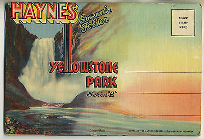 Vintage 1935 Fold-Out Postcard Book YELLOWSTONE NATIONAL PARK 'B' - Teich D-3772