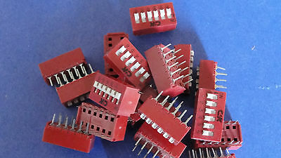 Bd06 C&k - Qty 19 - New 6 Position Dip Switch Off On Spst