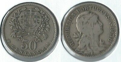 1938 Portugal Azores 50 centavos coin key date