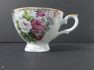 Pink Roses with Gold Accents and Trip China Cup