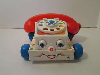 Vintage Fisher-Price Chatter Box Telephone Classic Pull Toy #747