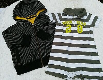 Baby BOYS clothing size 12-18 months outfit set LOT OF 2 CARTERS